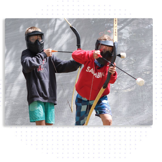 Images with Icons - archery tag
