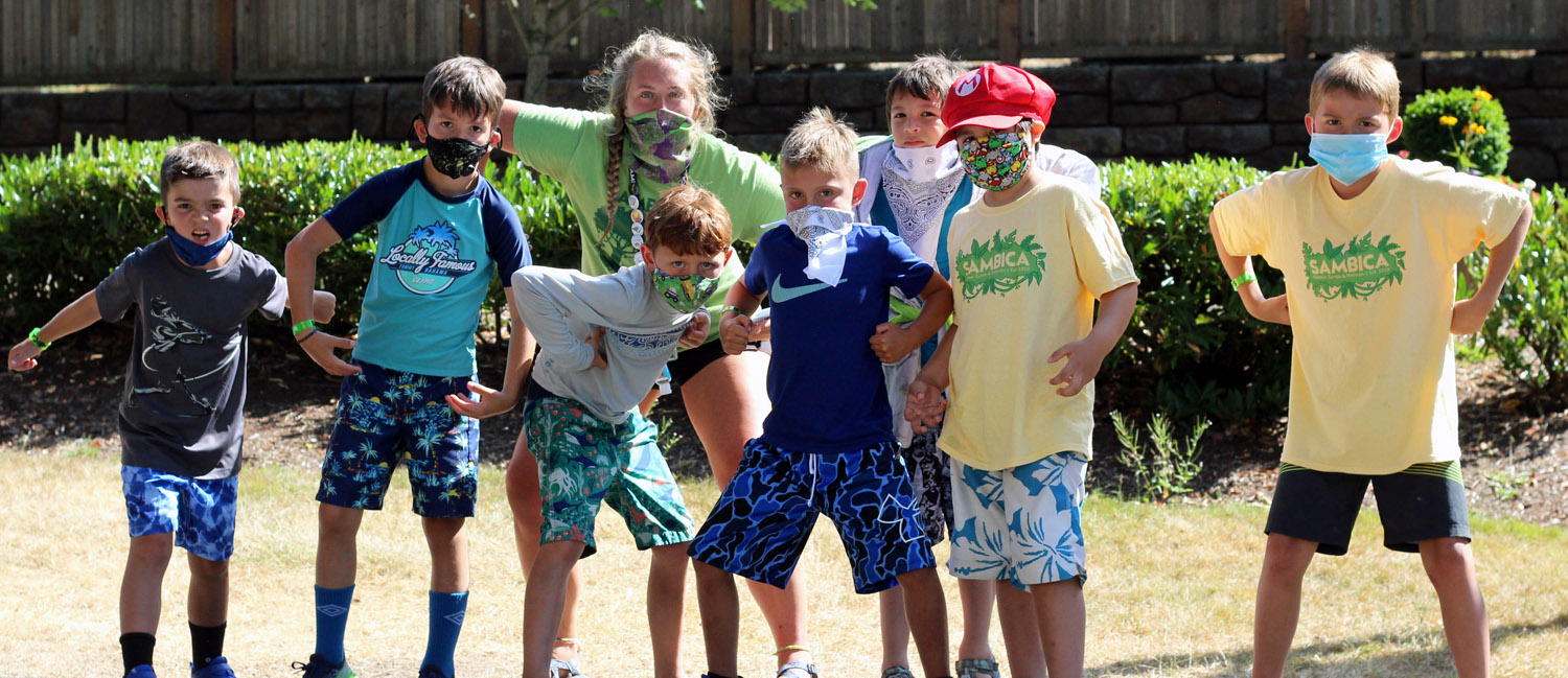 camps small sections - group boys mask